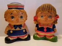 Vintage Raggedy Ann & Andy Coin Banks  Dover