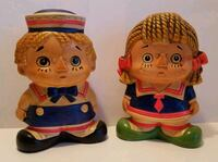 Vintage Raggedy Ann & Andy Coin Banks  Dover, 19901