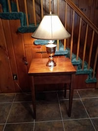 brown and white table lamp WASHINGTON