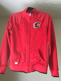 Ladies red Calgary Flames light zip up jacket  Calgary, T2N 3R6