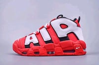 NIKE AIR MORE UPTEMPO BLACK METALLIC GRAY IN RED C Istanbul