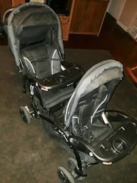 baby's black and gray tandem stroller Hemet, 92543