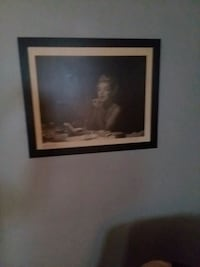 black wooden framed painting of a woman Mansfield, 44907