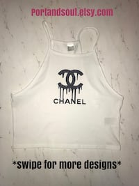 Dripping Chanel logo crop top (NEW) Miami Beach, 33140