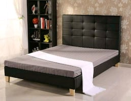 Double size Faux Leather Bed Frame