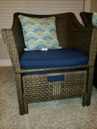 2 like new wicker chairs with pull out ottomand 328 mi