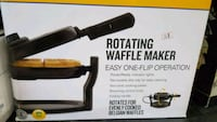black Rotating waffle maker box Lancaster, 93536