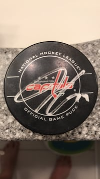 Autographed John Carlson Capitals Game Puck Annandale, 22003