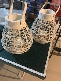 Two white wicker lanterns  St Catharines, L2S 1W6