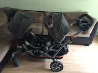 Contours double stroller with brand new universal car seat adapter  Л'Иль-Перро, J7V 8X2