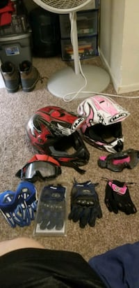 two helmets and accessories  Apache Junction, 85120