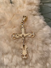 14k GPL Cross Pendant