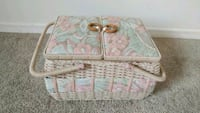 white and pink floral leather handbag London, N6H 4R6