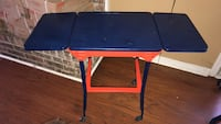 Vintage typewriter table in auburn colors. Daphne, 36526