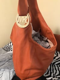 women's orange and white leather hobo bag Kennesaw, 30144