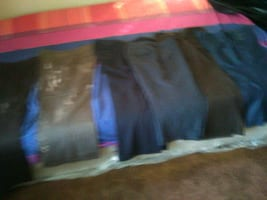 Dress shoes sizes 7 to 8. Dress pants size 10 5$ each