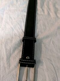 Black Italian leather belt  Vancouver, V5T 0B3