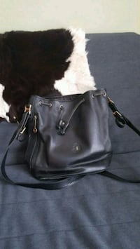 Black real leather bucket bag Toronto, M1W 1C9