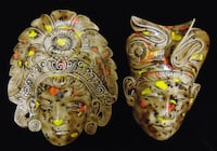 Arnel's Pottery (Signed/Dated) Ceramic Masks TEMPE