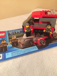 red LEGO city character plastic toys with box