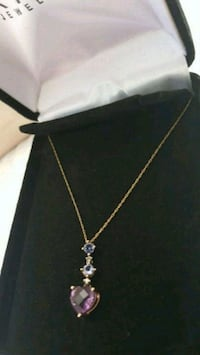 14k solid gold necklace  with  real stones and di