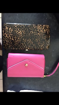 pink and black leather wristlet Youngtown, 85363