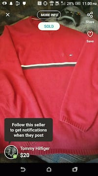 Tommy red warm sweater 1962 km