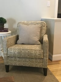 gray and white floral sofa chair Raleigh, 27614