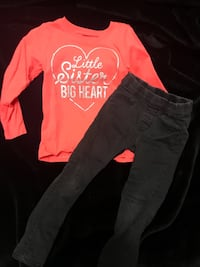 Carters 3t shirt and H&M 2/3 jeggings Port Moody, V3H 3J9