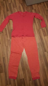 Pijama-Set in Rot- Orange