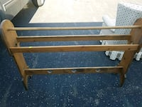 brown wooden bench with black metal base Newark, 43055