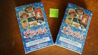2 Sealed Box Coors Collectors Cards 72 Pack cards Woodbridge, 22193