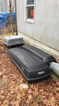 Used 2 Thule Roof Rack Storage Containers And One Sears X Cargo For Sale In West