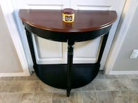 round brown wooden side table Calgary, T3P 0B5