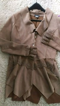 Sz small suede like fabric cute jacket Elkhorn, 53121