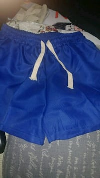 blue and white Nike drawstring shorts Montreal, H8T