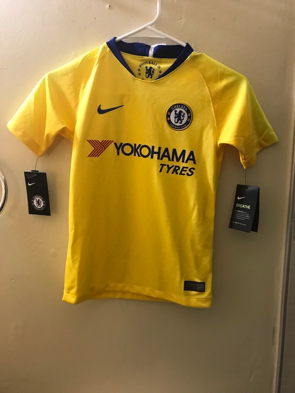 best service eee04 b3371 Nike Chelsea Soccer Football Jersey Youth S Small Away Yellow 2018/2019