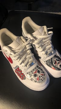 pair of white-and-red Nike sneakers Athens, 30606