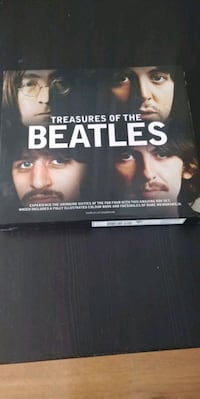 Treasures of the Beatles hard cover book. The story of The Beatles. Calgary, T2T 2G6
