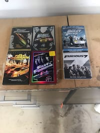 LOT OF 6 DVDS AND BLU-RAYS FROM THE FAST AND THE FURIOUS COLLECTION Bartlett, 60103