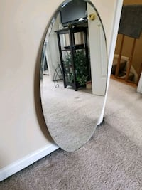 white wooden framed wall mirror Sterling, 20165