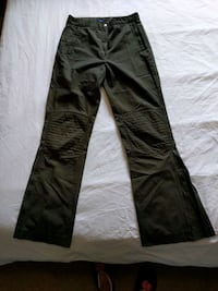 Women High waist Green Polyamide/cotton pants size 5