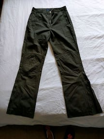 Women High waist Green Polyamide/cotton pants size 5 with padded knees