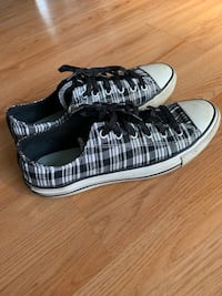 Checkered/Plaid Black and White Patterned Converse Simi Valley, 93063