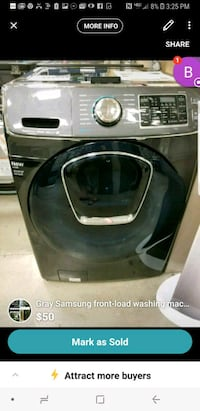 gray Samsung front-load washer screenshot St. Peters