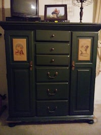 Unique Norman Rockwell chest vintage piece in beautiful green Glen Allen