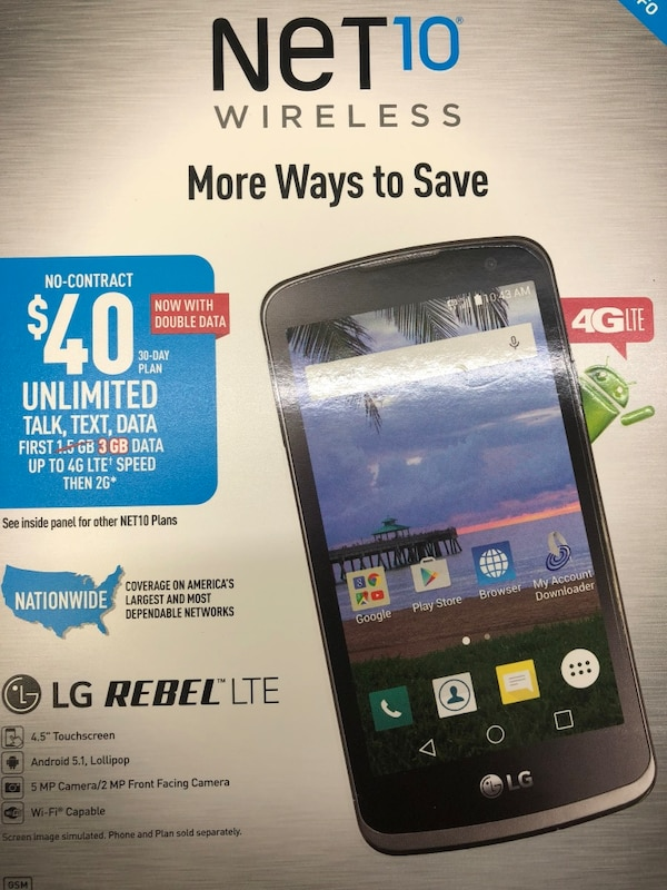 Used LG Rebel Net10 for sale in Green Bay - letgo