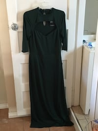Forest Green floor length dress with slit Chicago, 60622