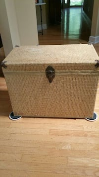 Used Wicker Like Trunk With Wood Interior For Sale In