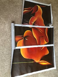 A tri-piece canvas hand painted calla lilly would speak elegance in any room. It would also make a great wedding gift as it represented beauty, love Sugar Hill, 30518